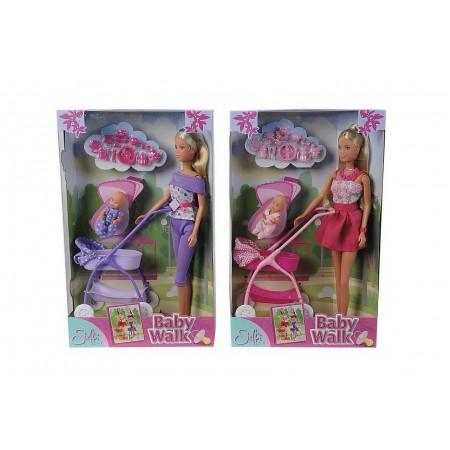 Steffi.5733067 Кукла Штеффи с ребёнком, 29 см./5 см., ассорт. 12/24