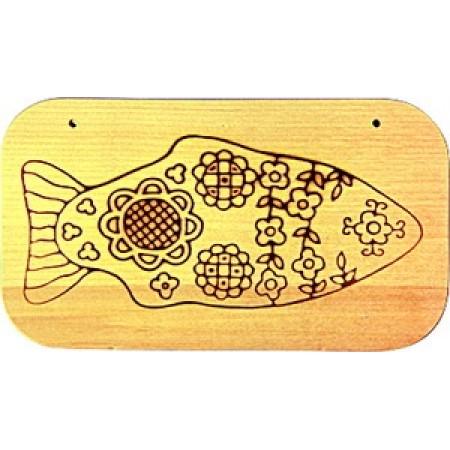 """Доска с контуром под роспись """"Рыбка"""""""