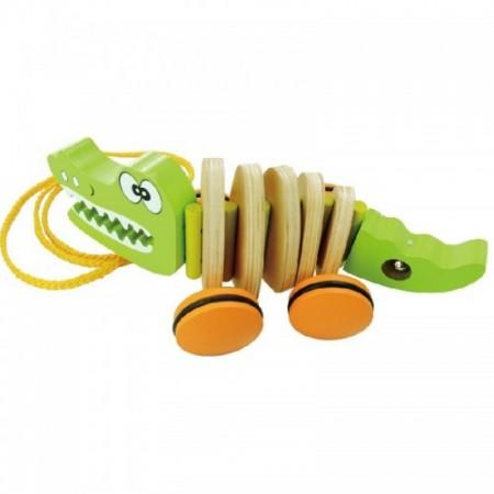 """VIGA. W05B138 Каталка """"Крокодил"""" (дерево) (упаковано в гофр.картон)"""