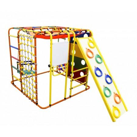 Детский спортивный комплекс Формула здоровья Кубик У Плюс оранжевый- радуга