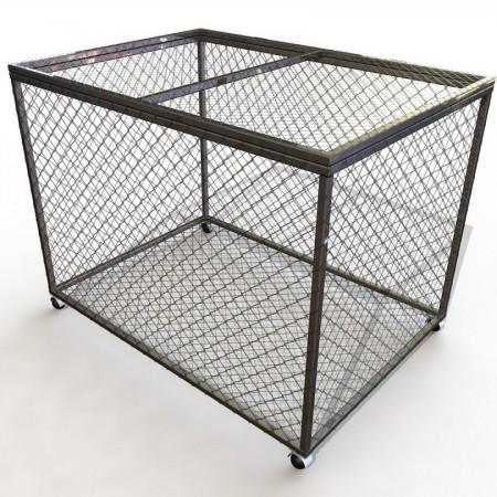 Корзина для хранения мячей и инвентаря передвижная металлическая (сетка)