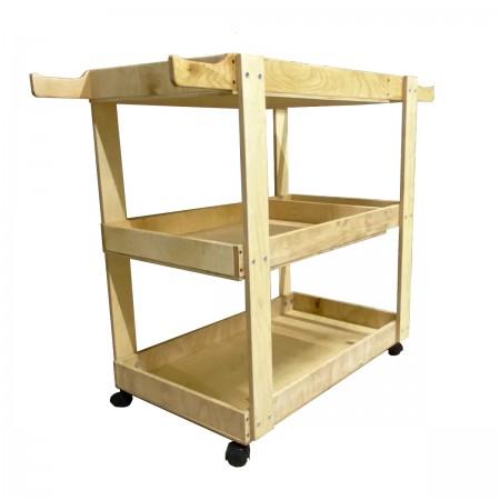 Тележка деревянная для спортинвентаря на колесах,