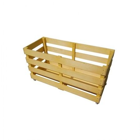 Контейнер для спортинвентаря деревянный передвижной,