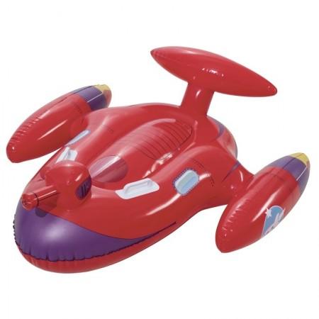 """Игрушка для катания верхом с брызгалкой Bestway """"Космолёт"""", 109х89 см, заплатка"""