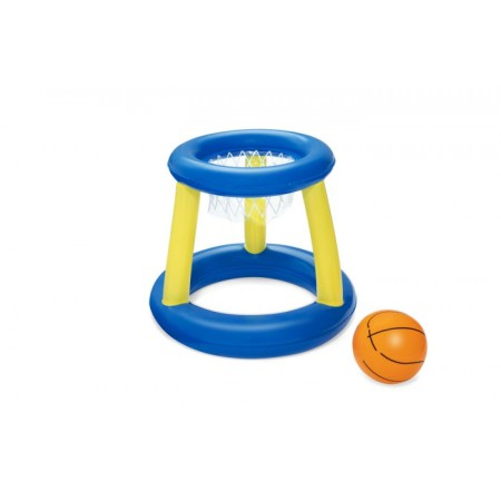 БАСКЕТБОЛ НА ВОДЕ КОРЗИНА (ПВХ) В наборе корзина и надувной мяч для игры.