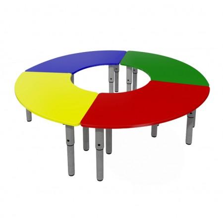 Стол детский модульный регулируемый (Цветной)