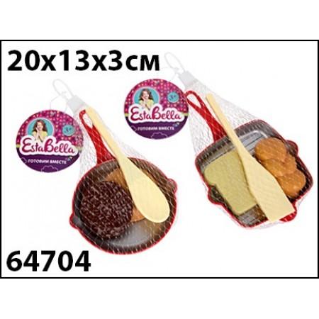 """EstaBella. Набор """"Сковородка с продуктами и лопаткой"""" арт.64704"""