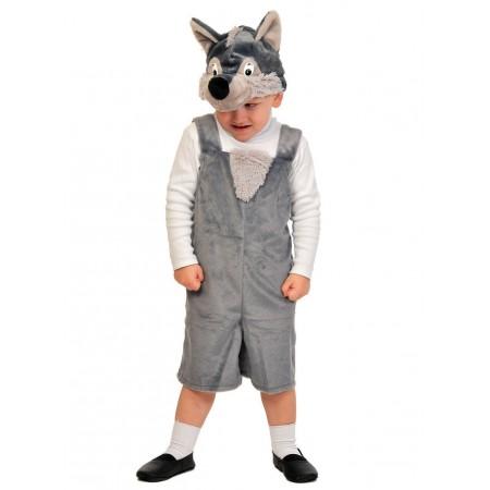 """Карнавальный костюм """"Волчонок"""" В комплект входят: полукомбинезон, маска.  Возраст: 3-6 лет, рост 92-122 см."""