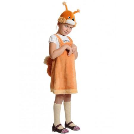 """Карнавальный костюм """"Белочка""""В комплект входят: сарафан, маска.  Возраст: 3-6 лет, рост 92-122 см."""
