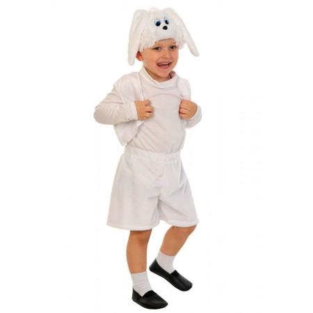 """Карнавальный костюм """"Зайчик белый лайт"""" В комплект входят: жилет, шорты, маска. Возраст: 3-5 лет, рост 92-116 см. Материал жилетки и шорт: плюш."""