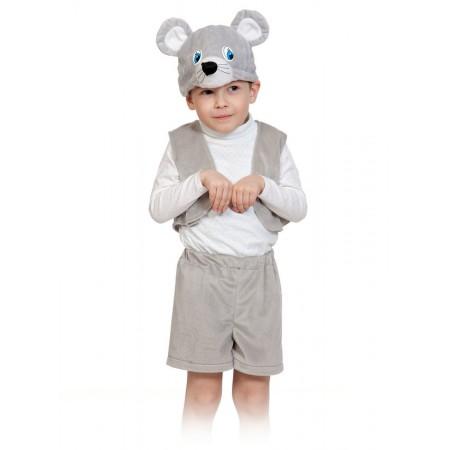 """Карнавальный костюм """"Мышонок лайт"""" В комплект входят: жилет, шорты, маска.  Возраст: 3-5 лет, рост 92-116 см."""