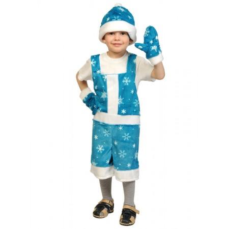 """Карнавальный костюм """"Новый Годик"""" (плюш) В комплект входят: полукомбинезон, шапка, варежки.  Возраст: 3-6 лет, рост 92-122 см."""