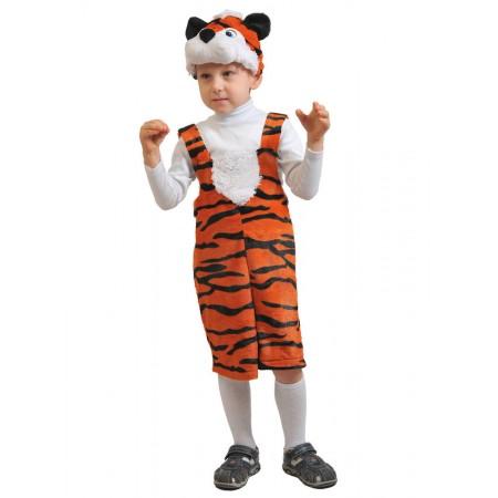 """Карнавальный костюм """"Тигрёнок"""" (плюш) В комплект входят: полукомбинезон, маска.  Возраст: 3-6 лет, рост 92-122 см."""