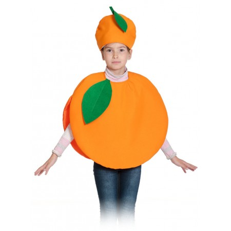 """Карнавальный костюм """"Апельсин"""" В комплект входят: накидка и маска-шапочка. Возраст: 4-7 лет, рост: 98-128."""