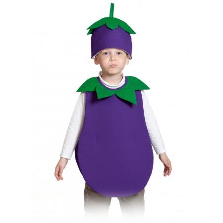 """Карнавальный костюм """"Баклажан""""В комплект входят: накидка и маска-шапочка. Возраст: 4-7 лет, рост: 98-128."""