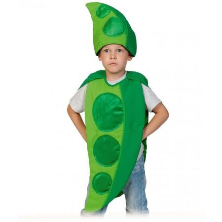 """Карнавальный костюм """"Горох""""           В комплект входят: накидка и маска-шапочка. Возраст: 4-7 лет, рост: 98-128."""