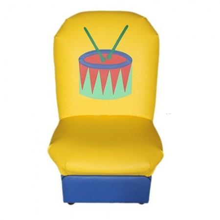 """""""Аппликация"""" детское кресло Игрушки-2 желто-синий."""