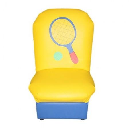 """""""Аппликация"""" детское кресло Игрушки желто-синий."""