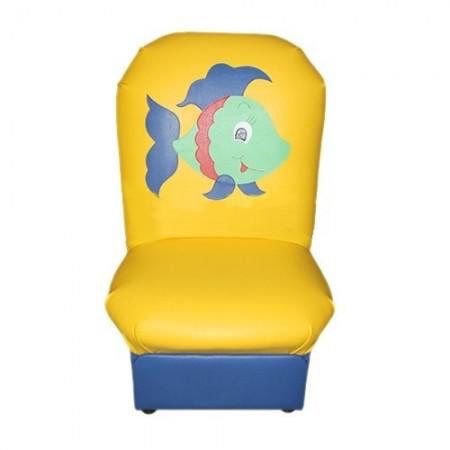 """""""Аппликация"""" детское кресло Рыбки желто-синий."""