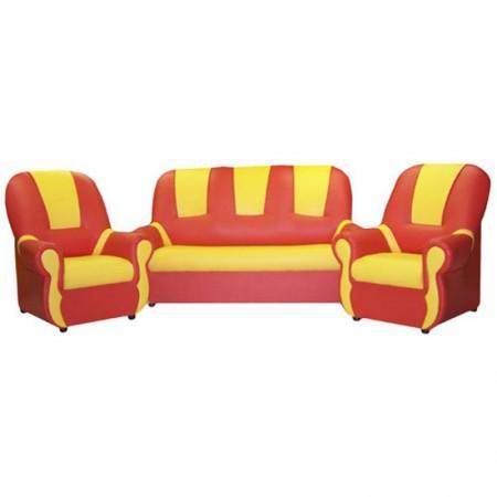 """""""Бусинка"""" комплект детской мягкой мебели красно-желтый"""